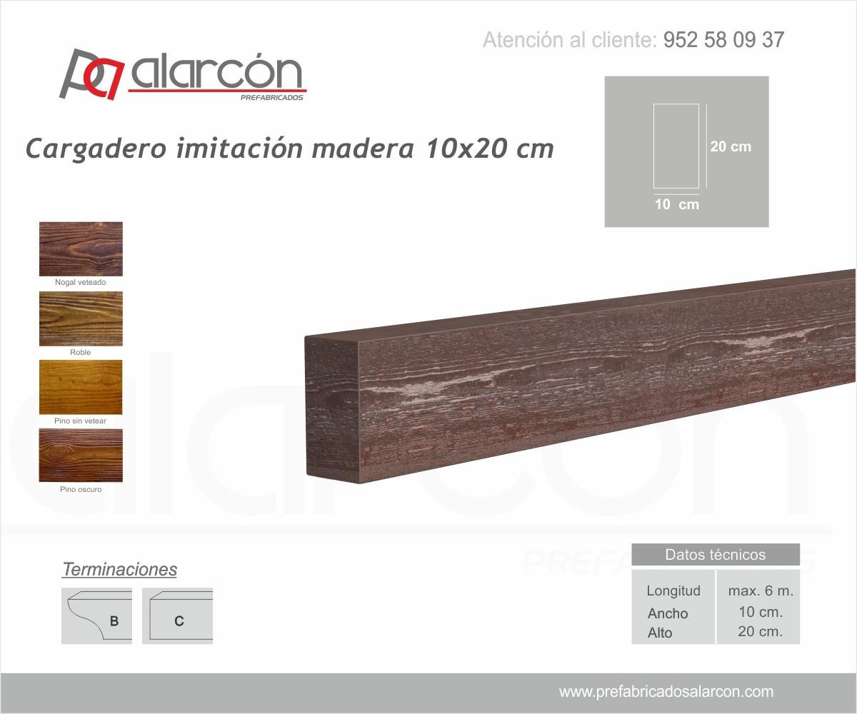 CARGADERO IMITACIÓN MADERA 10X20 CM