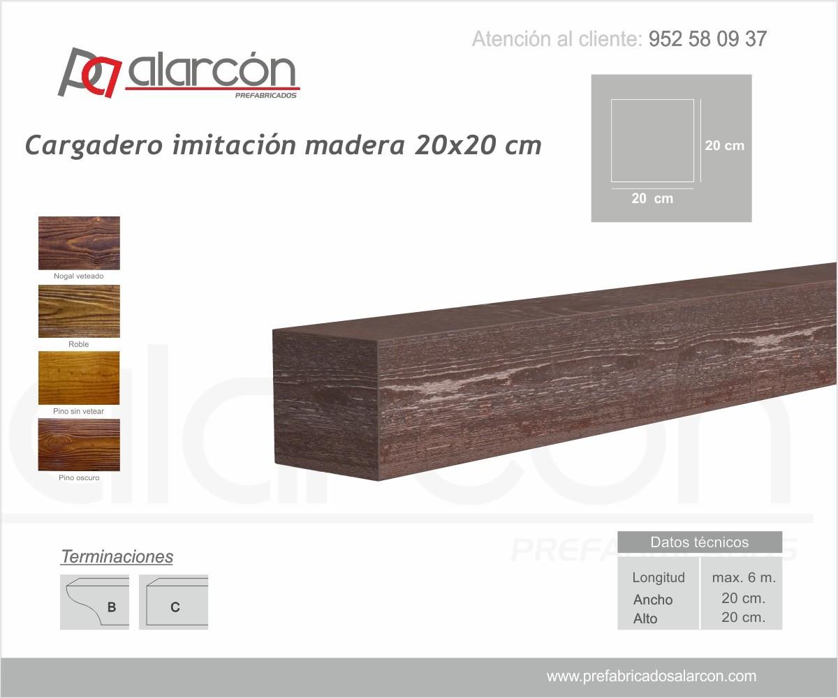 CARGADERO IMITACIÓN MADERA 20X20 CM