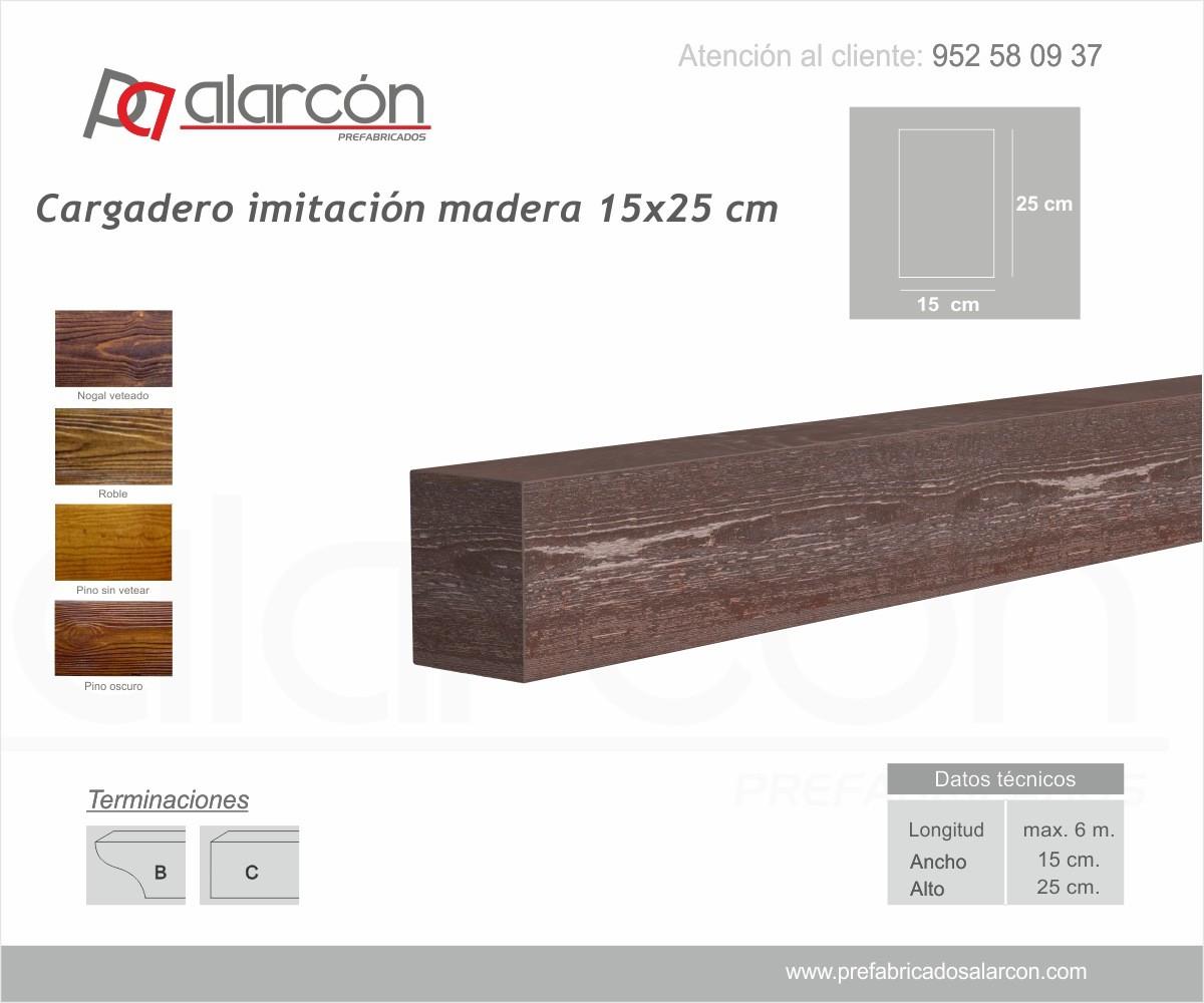 CARGADERO IMITACIÓN MADERA 15X25 CM
