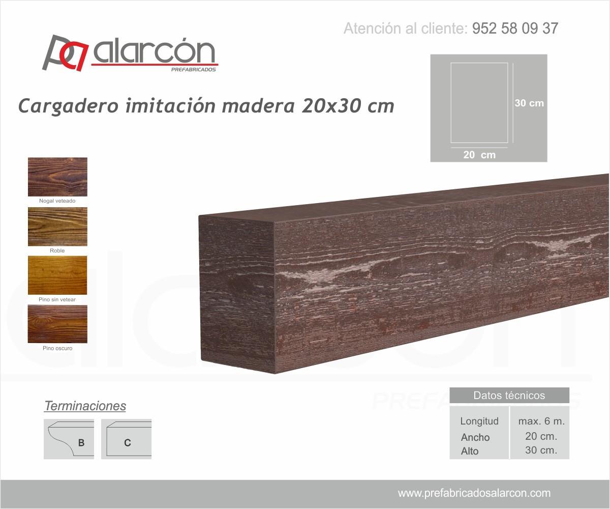 CARGADERO IMITACIÓN MADERA 20X30 CM