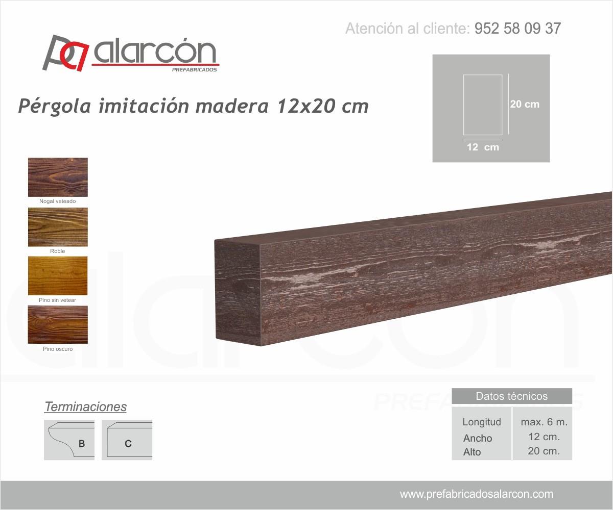PÉRGOLA IMITACIÓN MADERA 12X20 CM