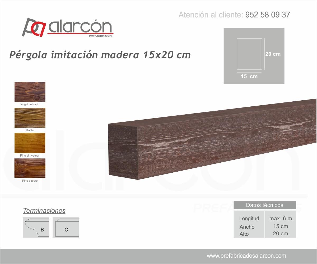 PÉRGOLA IMITACIÓN MADERA 15X20 CM