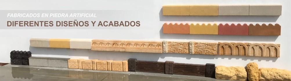 Bordillos de hormigón para jardín - Prefabricados Alarcón