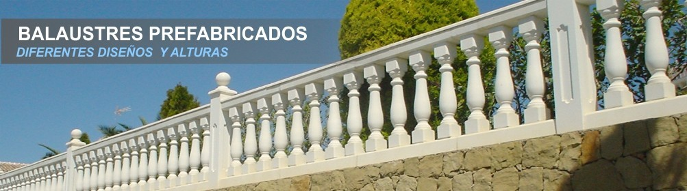 Balaustradas en piedra artificial - Prefabricados Alarcón