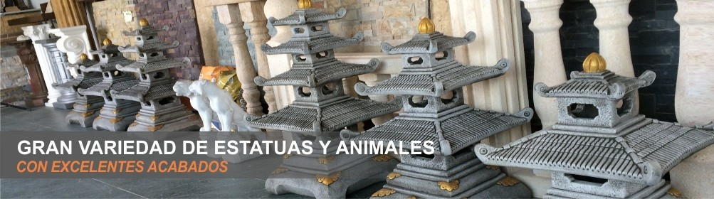 Figuras en piedra artificial para decoración de exteriores o interiores - Prefabricados Alarcón