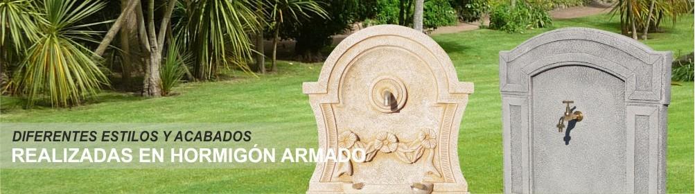 Fuentes de piedra artificial - Prefabricados Alarcón