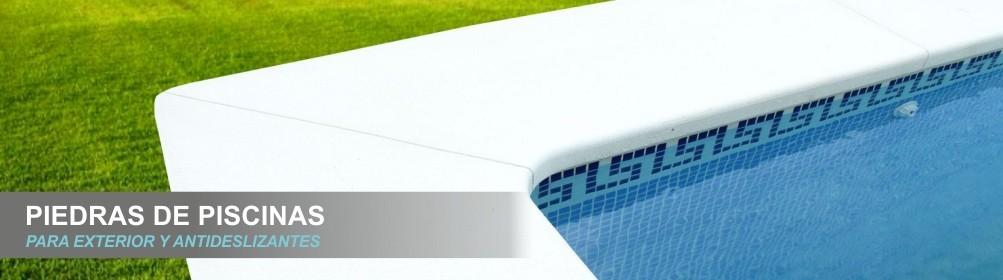 Piedras para bordes de piscinas para exterior y antideslizantes sin hierros - Prefabricados Alarcón