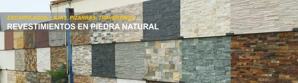 Piedra natural para revestir fachadas exteriores o interiores, en formato paneles, lajas, tacos - Prefabricados Alarcón