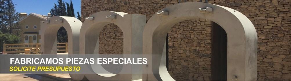 Fabricación de piezas especiales de hormigón, Letras, monolitos, logotipos, hamacas, bola de golf - Prefabricados Alarcón