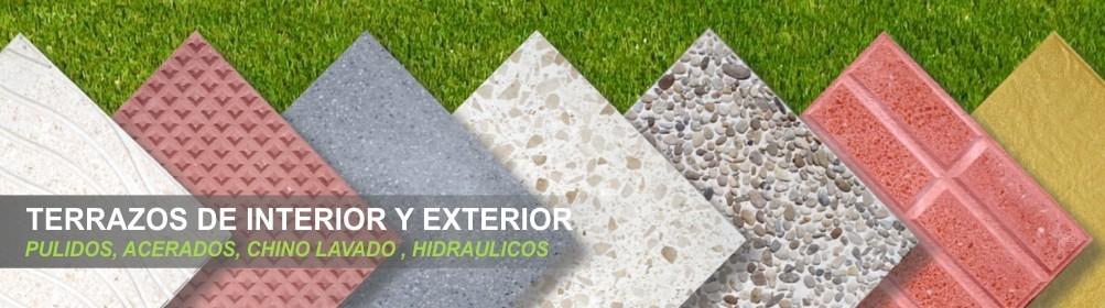 Terrazos para exteriores e interiores - Prefabricados Alarcón