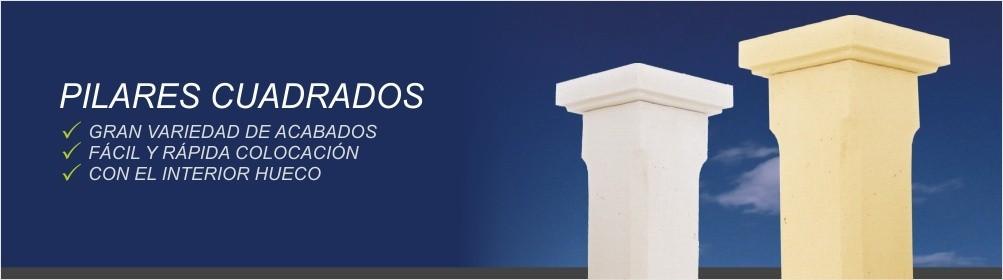 Pilares cuadrados fabricados en hormigón - Prefabricados Alarcón
