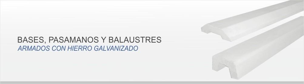 BALAUSTRES, BASES Y PASAMANOS