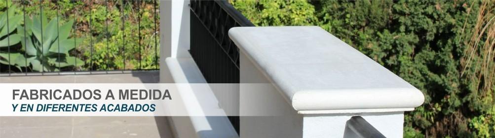 Cubremuros, escalones y alfeizares fabricados en hormigón blanco Fabricación a medida -Prefabricados Alarcón