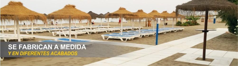 Pasarelas de hormigón blanco para pasillos de playas o piscinas - Prefabricados Alarcón