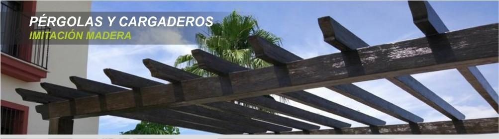 Pérgolas y cargaderos de hormigón imitación madera -  Prefabricados Alarcón
